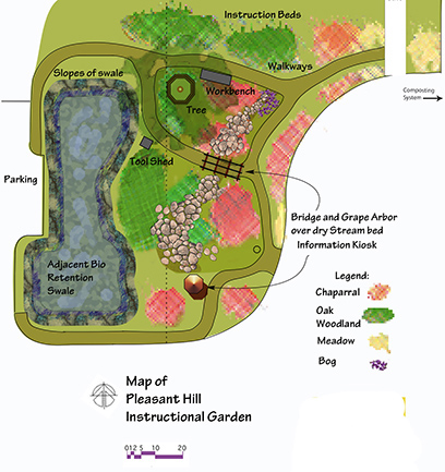 map of garden layout